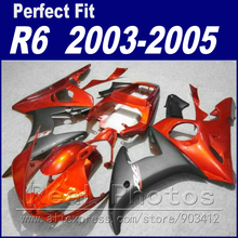 Hot sale body work for YAMAHA R6 fairing kit 2003 2004 2005 maroon matte grey Fairing YZF fairings 03 04 05(China)