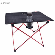 Extremely Lightweight! Portable Outdoor Table Aluminium Alloy Folding Table for Camping Picnic Travel Fishing BBQ Outdoor(China)