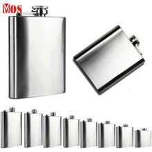 AG 24 2017 Top QualityHot Selling   Stainless Steel Pocket Hip Flask Alcohol Whiskey Liquor Screw Cap