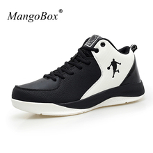 Hot Basketball Shoes Men Mid Top Basketball Boots Breathable Leather Athletic Shoes Big Size Training Sneakers Basket Shoes(China)