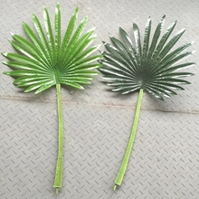 Large 80cm Latex Artificial Fan Coconut Palm Plant Tree Leaf Branch Frond Wedding Home Furniture Outdoor Beach Decor Green F5380
