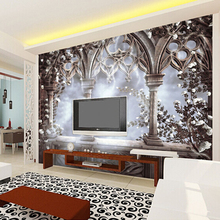 Europe Style Simulation Doors Photo Mural Wallpaper for Bedroom Living Room Sofa Background Custom Size Non-woven Wall Covering