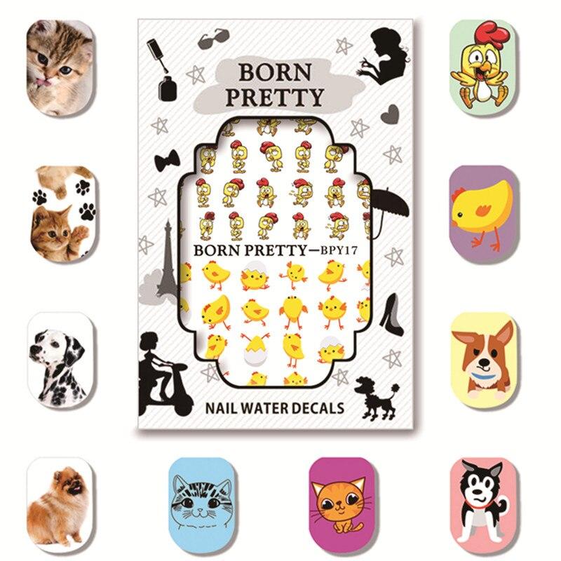 BORN PRETTY Nail Art Water Decals 5 Sheets/Set Cute Animal Manicure Design Water Transfer Sticker BPY16-20<br><br>Aliexpress