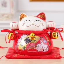 Crafts Arts Home decoration Lucky Cat piggy piggy large ceramic ornaments Home Furnishing wedding gift ideas piggy small opening