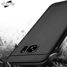 KISSCASE Soft Silicon Cases For Samsung Galaxy S8 S8 Plus S7 S6 Edge S5 Case For LG G5 G4 G3 Case For HTC M8 One M9 Cases(China)