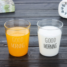 New fashion Japanese Milk Tea glass mug Cup Breakfast milk milktea coffe Cup Glass Cup Morn home office drink cup
