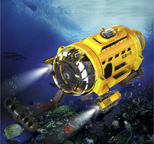 Undersea take picture/vedio mini RC toy 2.4G 3CH up to 5M LED light fishbowl remote control RC submarine with fish good device(China)