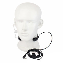 Extendable PTT Throat Microphone Mic Earpiece Headset for CB Radio Walkie Talkie for BAOFENG UV-5R UV-5RE  UV-B5 UV-82 GT-3