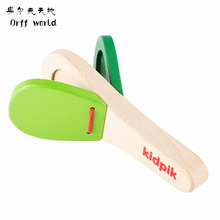 Buy Orff world Lovely Castanets Kids Child Baby Wooden Castanet Clapper Handle Musical Instrument Preschool Early Educational Toy for $2.08 in AliExpress store