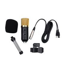 Brand N USB Condenser Sound Recording Microphone Wired Radio Broadcasting Microphone with Stand for Chatting Singing Karaoke