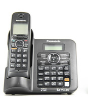 1 Handsets KX-TG6641B DECT 6.0 Digital wireless phone Black Cordless Phone with  Answering system