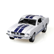 Mustang Shelby GT500 1967 White 1/38 alloy models Diecast Metal Pull Back Car Toy For Gift Collection