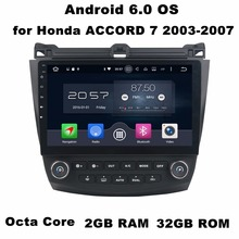 "2GB RAM 10.1"" Android 7.1 Android 6.0 Car Audio DVD Player for Honda ACCORD 2003-2007 With GPS Radio Bluetooth WIFI Mirror-link"