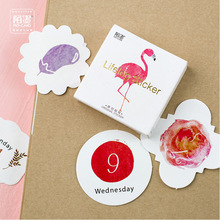 45 Pcs/lot Cute Animal Plant Calendar Mini Paper Sticker Decoration Diy Ablum Diary Scrapbooking Label Sticker Kawaii Stationery