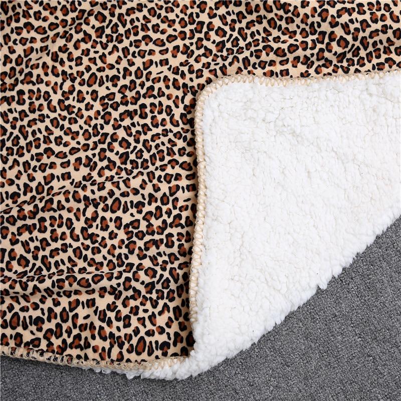 Compre Patrón De Leopardo Súper Suave Manta De Doble Capa Aire ...