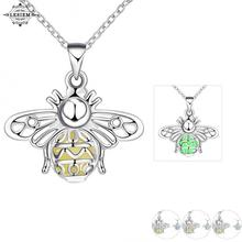 LESIEM exo Glow in the Dark  unisex necklaces pendants Hollow Firefly  angle wing collier plastron accessories