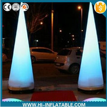 Hot event club carnival welcome decoration led light inflatable pillar
