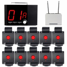 99 Channel Wireless Hotel Voice Reporting Broadcast Calling System 1 Receiver Host + 1 Signal Repeater +10 Call Button F4403A