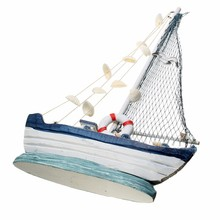Mediterranean Style Mini Ship Marine Crafts Decoration Nautical Decor Handmade Sailing Ship Furnishing Decorative Ornaments(China)