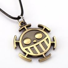 ZIDOM popularity Anime One Piece Trafalgar Law whistle smiling face pendant necklace delicate necklace as a souvenir for fans