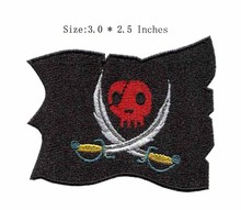 "The red skull 3.0""wide embroidery patch for custom letterman jackets/champions league patch/bolsas(China)"