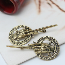 Refaxi 2pcs Suit Shirt Lapel Costume Bronze Alloy Brooch Pin Badge For Game of Thrones Hand of The King Vintage