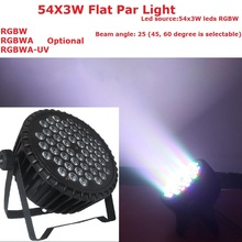 Hot 2015 Par Led 54x3W Flat Led Par Can Light High Power RGBW Stage Lights With DMX512 Master Slave DJ Disco DMX Home Equipments(China)