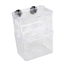 NOCM-BOUH Clear transparent Plastic Aquarium Fish Breeding Box Incubator Isolation(China)