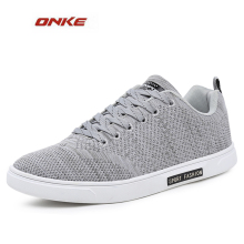 ONKE 2017 Mens Running Shoes Breathable Male Outdoor Walking Sport Shoes Flat Bottom Grey Color Shoes Sol  Track and Field
