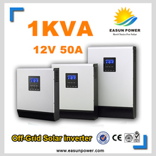 Hot Sell Solar Inverter 1Kva 800W Off Grid Inverter 12V to 220V 50A PWM Inverters Pure Sine Wave Hybrid Inverter 20A AC Charger