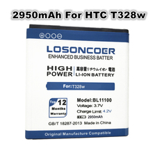 LOSONCOER 2950mAh BL11100 Use for HTC Desire V/VC/VT T328w T328d T328t Sensation XE Z710E G14 battery G17 EVO 3D X515d X515m(China)