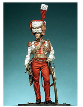 1/24  Scale  French guards the second gun cavalry regiment bugler  75mm     Historical WWII Figure Resin  Kit Free Shipping