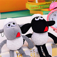 14cm Kawaii Anime Sheep Lamb Plush Stuffed Toys Dolls Stuffed Animals Bag Car Pendant Key Chain Keychain