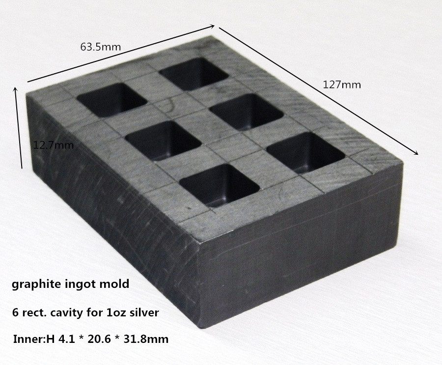graphite ingot mold     for 1oz silver bar casting /sic silicon carbide graphite crucible fo rmelting metal ,FREE SHIPPING<br>