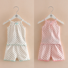 Baby pajamas 2017 summer new girls wear floral dress tz-3427 Home Furnishing sling air conditioner