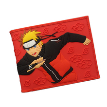 NARUTO Wallet Japanese Fashion Cartoon Purses 3D Pattern Printing Comics Wallet Young Men Boys PVC Money Bag Card Holder Wallet