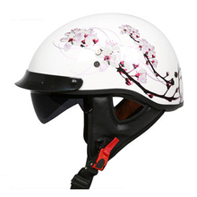 DOT FMVSS218 Standard Open Face Harley Helmet Removable and washable liner with sunglasses controllable(China)