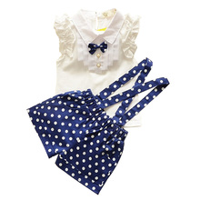 BibiCola Girls Clothes Baby Girl Summer Clothing Sets 2pcs Sleeveless Blouse+Bib Pants Outfits Toddler Girl Casual Clothes