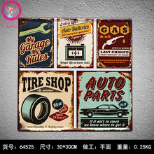 30X30CM  Auto Garage Vintage Home Decor Tin Sign for Wall Decor Metal Sign Vintage  Art Poster Retro Plaque\Plate