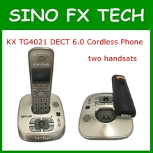 98% NEW KX-TG4021 DECT 6.0 Expandable Digital Cordless Phone With Answering System 2 Handsets Wireless Home Telephone KX-TG4011(China)