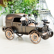 Free shipping Antique classic cars model Vintage Iron metal craft handmade retro car model home/Pub decoration business gift(China)