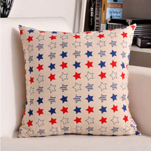 YMQY cushion cover pillow case star tower cotton linen livingroom bedroom home hotel office hospital flash deal free shipping