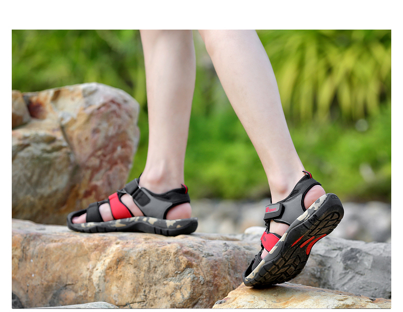 Leader Show Men Fashion Casual Shoes Summer New Adult Outdoor Beach Shoes High Quality Comfortable Man Baotou Sandals Breathable 13 Online shopping Bangladesh