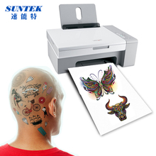 (10sets/lot) A4 Inkjet Laser Temporary Tattoo Sticker Paper Waterproof  DIY Tattoo Decal Film Dermatologically Tested Skin Safe