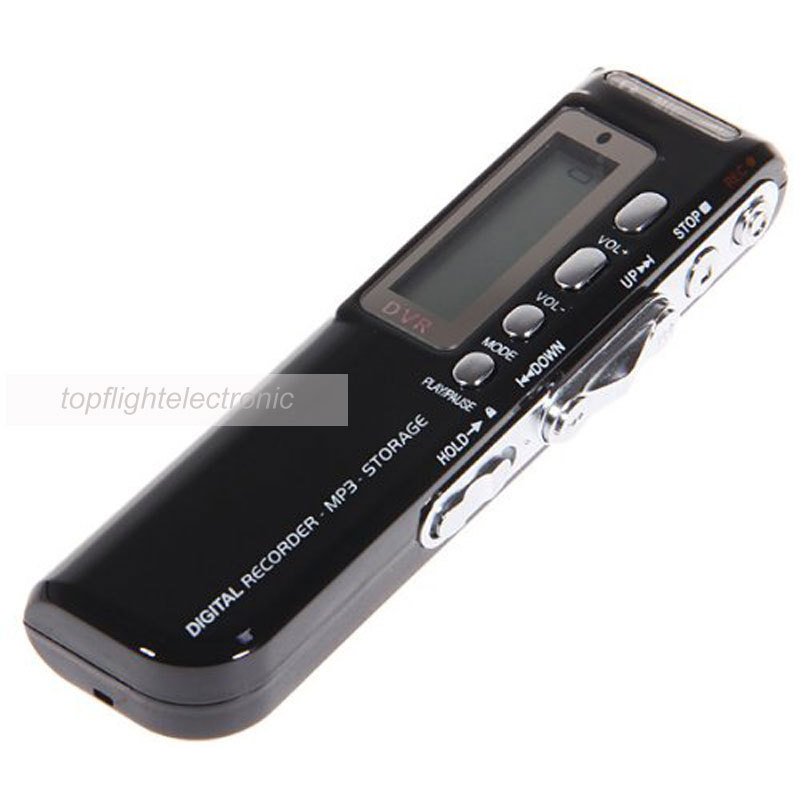 BRAND NEW VOICE ACTIVATED 8GB DIGITAL VOICE RECORDER DICTAPHONE(China)