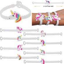MIX 10pcs/pack Children Charm Unique Unicorn Bracelets Girls Boys Birthday Party bag fillers Kids Baby Wristband Child Toy