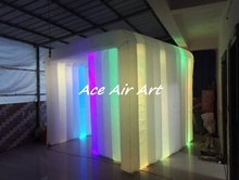 2017 led inflatable cube tent portable inflatable photo booth cabin for advertising