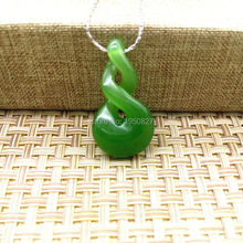 3 styles Green Nephrite Two Times Twist Nephrite New Zealand Maori Style Symbol Of Protection Green Pendant