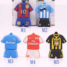 USB Flash Drive U Disk Football clothes suit Jersey 4GB 8GB 16GB 32GB Pen Drive Flash Cards PenDrive Soccer Superstars