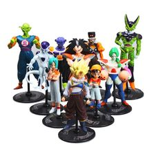 10pcs Dragon ball z Cell Gohan Son of Goku action figure toy set 2016 New Generation 2 super saiyan figures lot banpesto